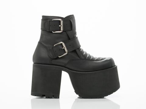 UNIF In Black Downer Boot