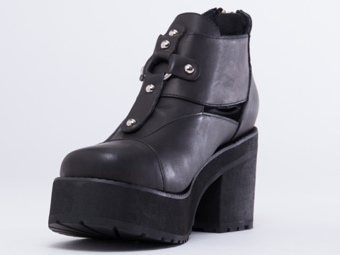 UNIF In Black Lost Sole Boot