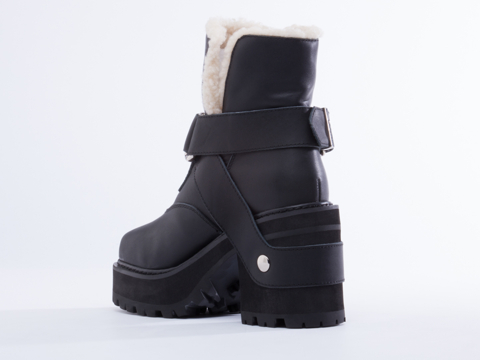 UNIF In Black Sherpa Boot
