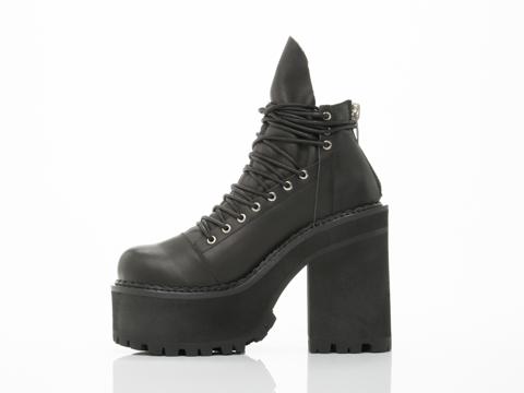 UNIF In Black Thrash Boot Mens
