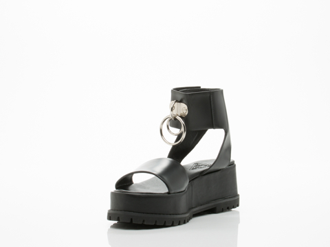 UNIF In Black Vault Sandal