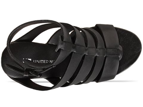 United Nude In Black Vegetan Leather Abstract Rome Hi