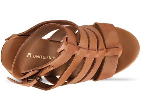 United Nude In Camel Vegetan Leather Abstract Rome Hi