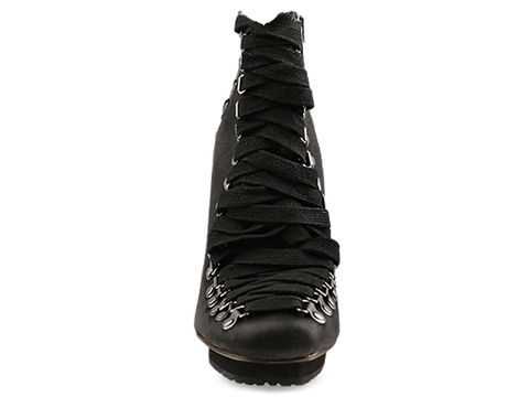United Nude In Black Rugged Leather Crazy Lacy