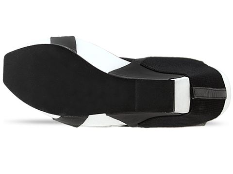 United Nude In Black White Elastic Vegetan Leather Geisha Hi