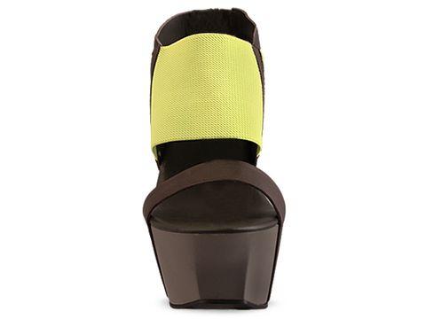 United Nude In Neon Yellow Elastic Vegetan Leather Geisha Hi