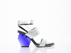 United Nude In Silver Leona Hi
