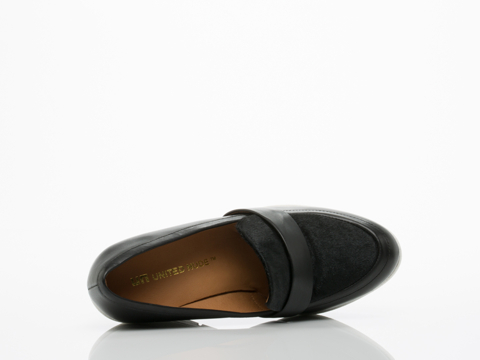 United Nude In Black White Linda Loafer