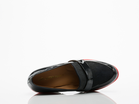 United Nude In Navy Red Linda Loafer