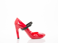 United Nude In Red Lo Res Pump