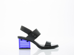 United Nude In Black Mid Rise Sandal