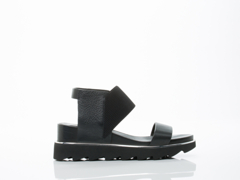United Nude In Black Rico Sandal