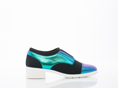 United Nude In Blue Iridescent Black Rosa Oxford