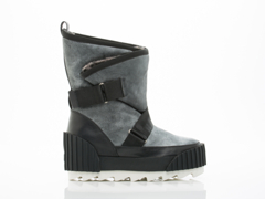 United Nude In Black Grey Snow Bootie