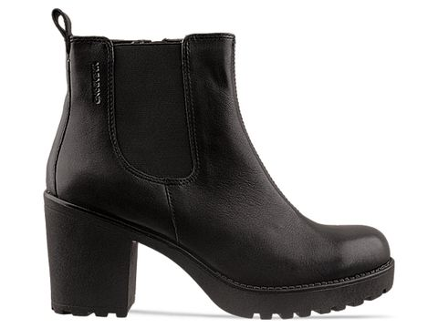 Vagabond In Black Leather Grace Gore Boot