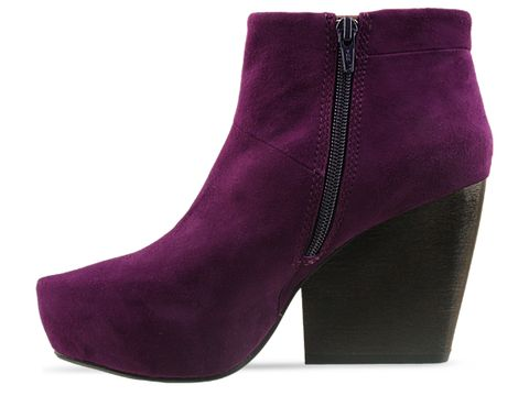 Vagabond In Deep Purple Suede Vera Short Boot