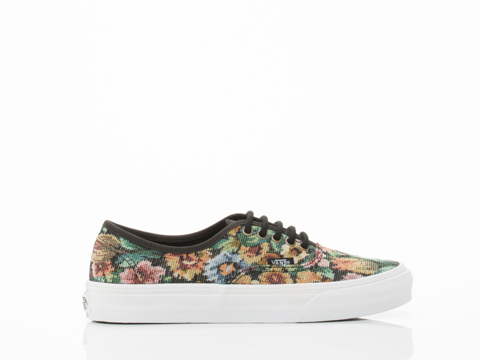 Vans In Black Tapestry Floral Authentic Slim