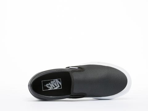 Vans In Black Perf Leather Classic Slip On