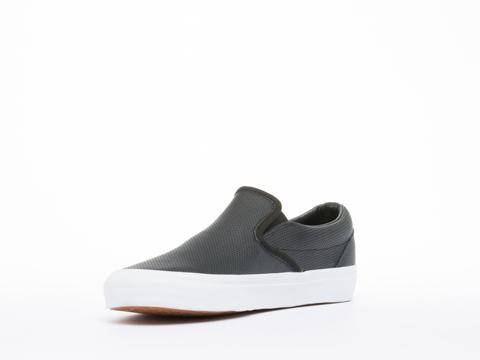 Vans In Black Perf Leather Classic Slip On Mens