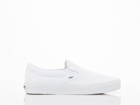 Vans In Checkerboard True White Classic Slip On Mens