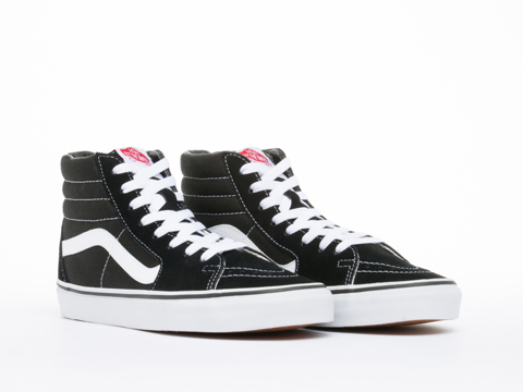 Vans In Black Black White SK8 Hi