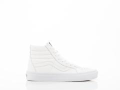 Vans In True White Premium Leather SK8 Hi Reissue