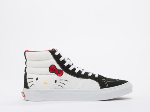 Vans In Hello Kitty Plush True White SK8 Hi Slim Mens