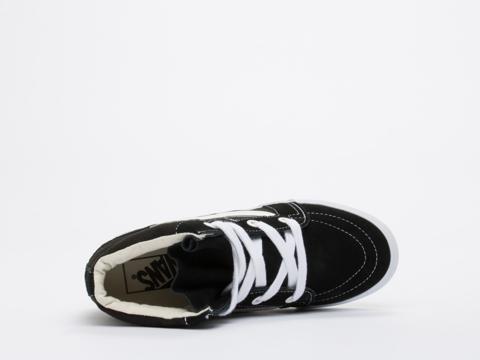 Vans In Black True White SK8 Hi Wedge
