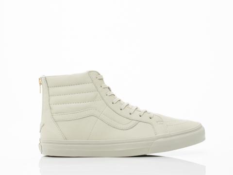 Vans In Agate Grey Boot Leather SK8 Hi Zip CA Mens