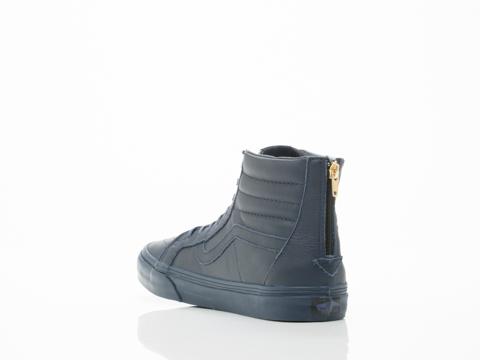 Vans In Dress Blues Boot Leather SK8 Hi Zip CA Mens