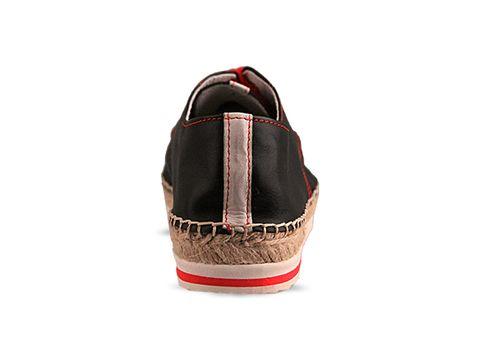 Veletto In Negro Espadrille Shoe