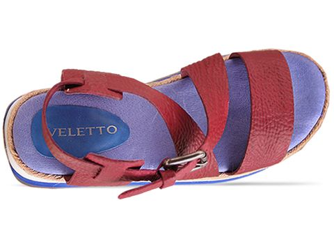 Veletto In Red Blue Sandal