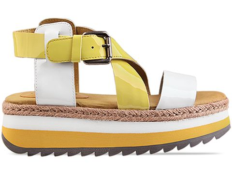 Veletto In White Yellow Sandal
