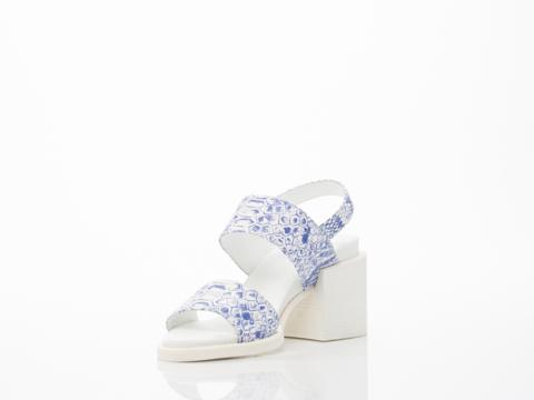 Veronique Branquinho In White Purple Sandal