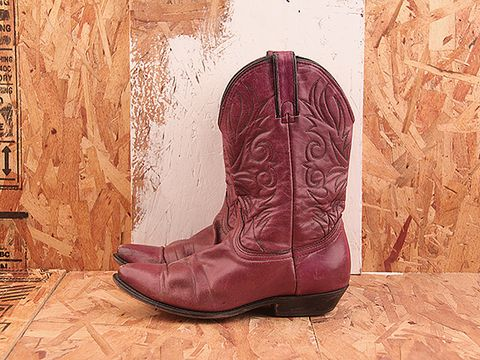 Vintage In Purple NIGHT RIDER 26 Purple Cowgirl Boot Size 9