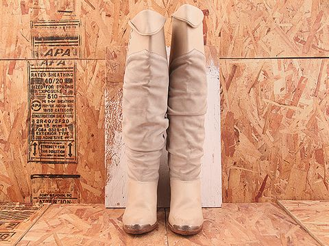 Vintage In Ivory NIGHT RIDER 3 Pale Zodiac Tall Boot Size 6