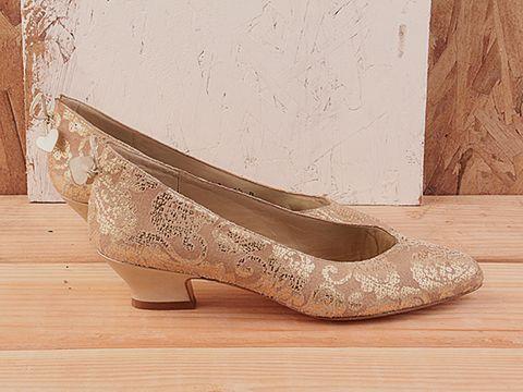 Bronze Kitten Heel Shoes