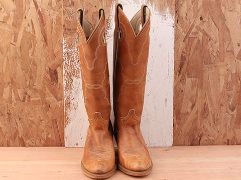 Vintage In Brown No. 14 Cowboy Boot Size 5.5