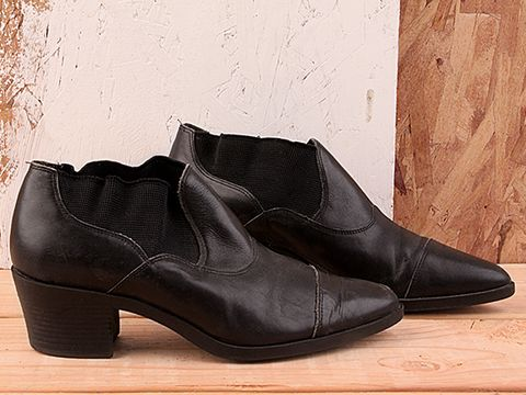 Vintage In Black No. 167 Black Stretch Ankle Boot Size 7.5