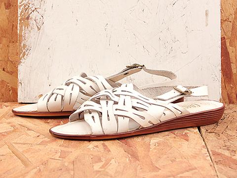 Vintage In White No. 189 Casual White Strappy Sandal Size 7.5