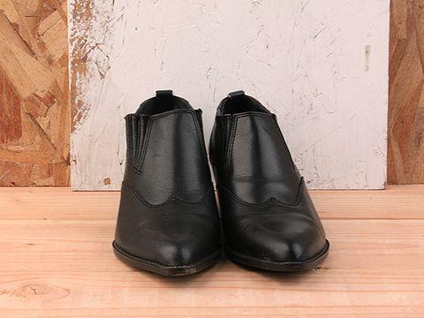 Vintage In Black No. 197 Black Low Rise Cowboy Bootie Size 6.5