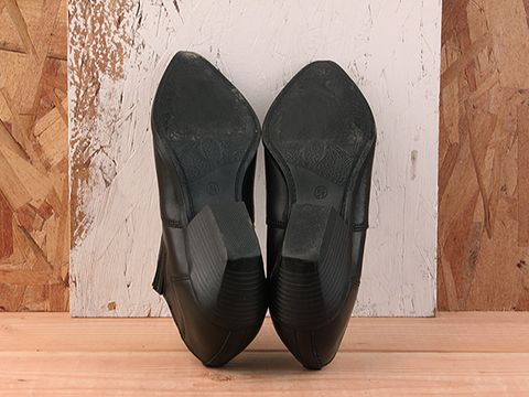 Vintage In Black No. 197 Black Low Rise Cowboy Bootie Size 6.5
