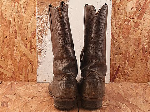 Vintage In Gray No. 347 Mens Gray Frye Western Boot Size 9