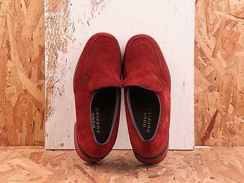 Vintage In Burgundy No. 399 Chunky Burgundy Suede Loafer Size 7