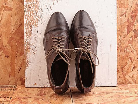 Vintage In Chocolate No. 420 Chocolate Textured Lace Up Boot Size 8