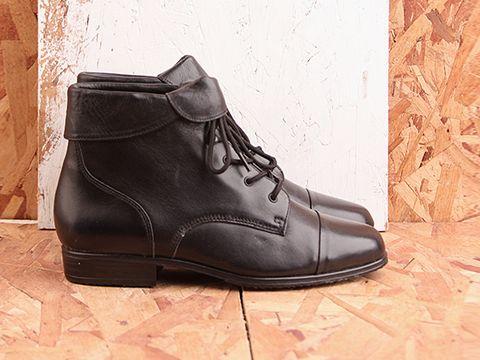 Vintage In Black No. 433 Black lace up boots Sz. 7M