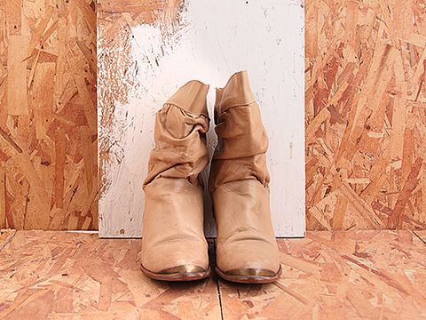 Vintage In Toffee No. 441 Tan Slouchy Cowgirl Boot Size 8