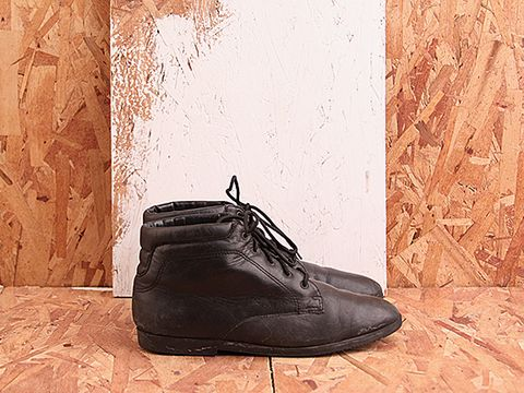 Vintage In Black No. 447 Lace Up Ankle Boots Size 7.5