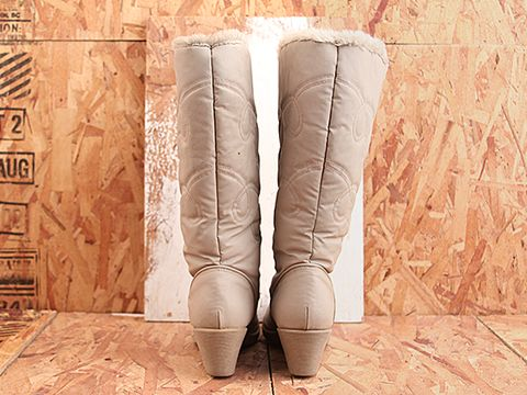 Vintage In Pale Gray No. 451 Pale Gray Tall Winter Boot Size 8