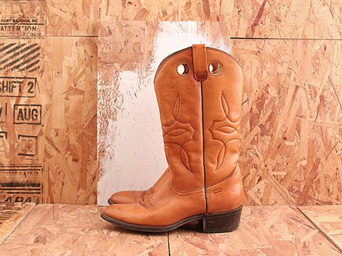 Vintage In Butterscotch No. 467 Mens Levis Cowboy Boot Size 8
